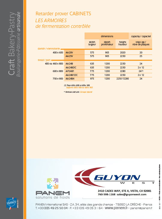 guyon west cabinet retarder proofer