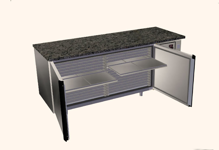 guyon west bakery equipment refrigerated pastry tables