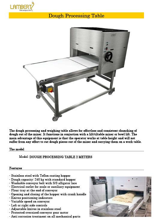 guyon west dough processing table